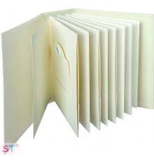 Ivory Rectangle Staples Tag & Pocket Album Graphic 45