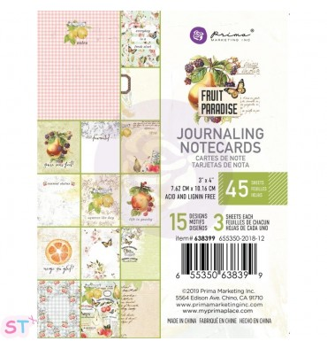 Fruit Paradise Journaling Notecards de Prima Marketing