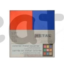 Hoja creative metal rojo y azul