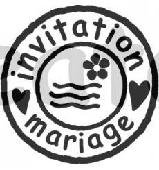 Sello de madera Invitación de boda