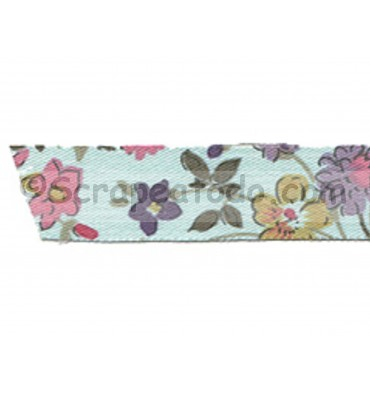 Fabric tape Wild flower blue