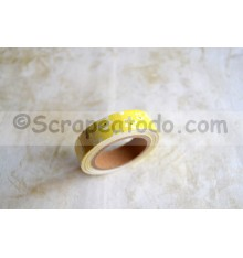 Fabric tape Flores blancas