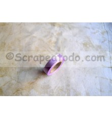 Fabric tape Puntos Morada