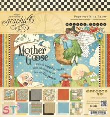 Paper pad Mother Goose 8x8 Graphic45
