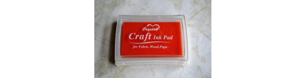 Tsukineko Brillantez Pigmento Inkpad Crafts Perlado Coral